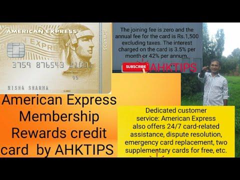 American Express Membership Rewards Credit Card Review By Ahktips