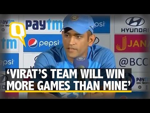 "The Quint: ""Virat's Team Will Win More Matches Than Mine,"" Says MS Dhoni Mp3"