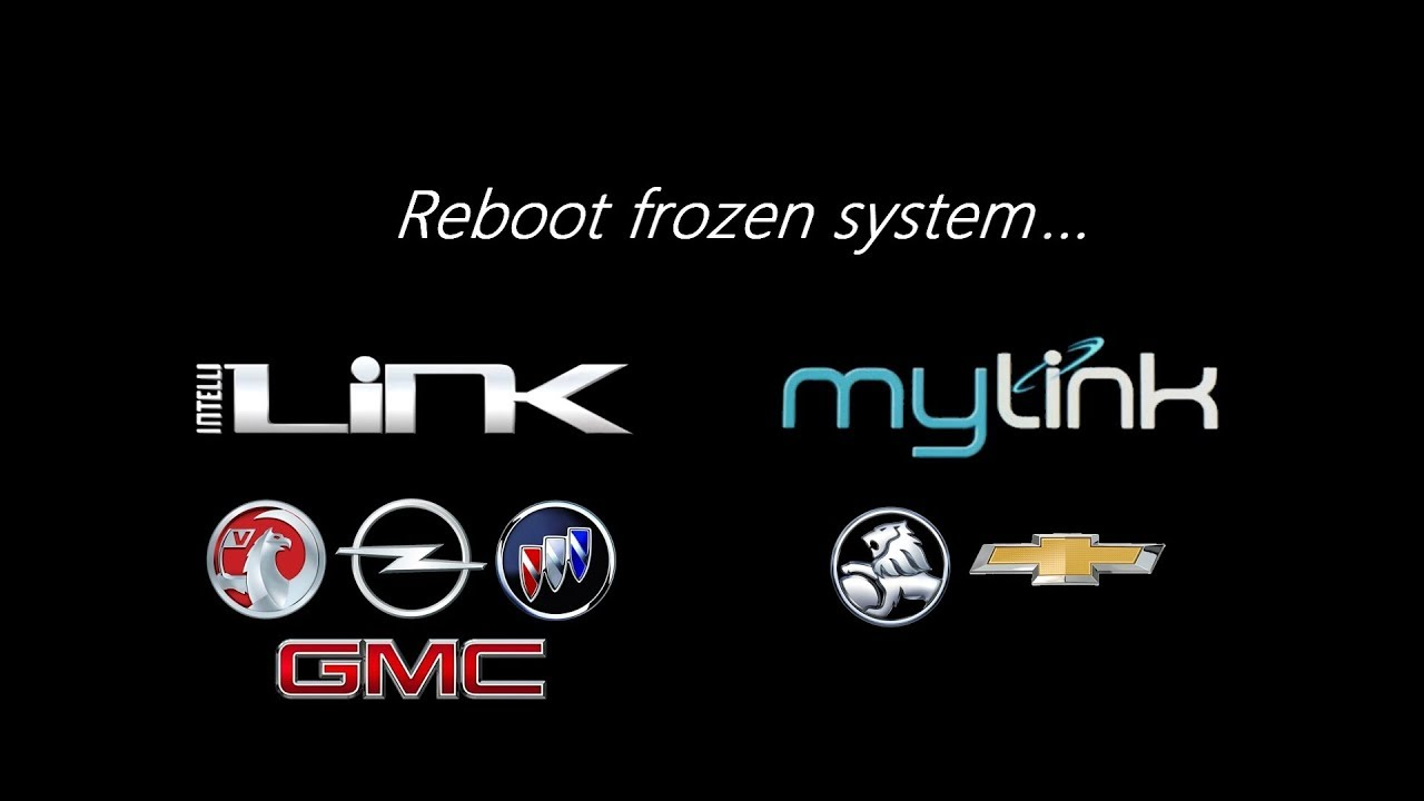 Reboot Frozen Intellilink System Youtube