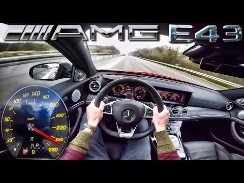 Mercedes E43 AMG ACCELERATION & TOP SPEED POV Test Drive Autobahn by AutoTopNL