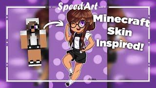 Nerdy Chibi [SpeedArt] Minecraft Skin Inspired | Paint Tool Sai :Tristan Journey: