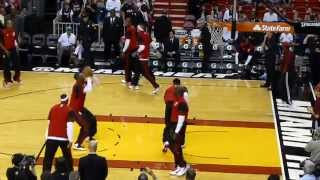 Lebron James Pregame Dunk Contest During Miami Heat Pre-Game Warmups (HD QUALITY)