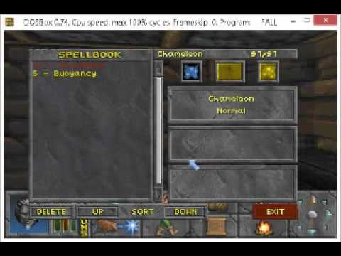 Elder Scrolls II Daggerfall Controls How To Attack Grab etc