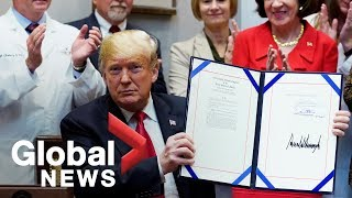 Trump signs bills on pharmacare costs