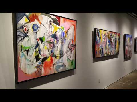 Interview with contemporary abstract artist Peter Triantos in his studio in Toronto