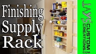 French Cleat Pocket Hole Finishing Supply Rack - 132