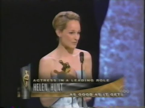 Helen Hunt winning Best Actress for As Good As It Gets