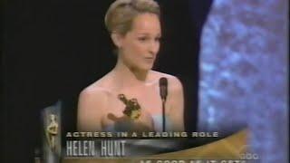 Helen Hunt winning Best Actress for As Good As It Gets