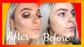 Red Spotlight Eyeshadow & Glowy Skin   Makeup Tutorial   Madalyn Davis Mua