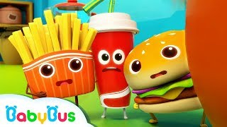 Hamburger and His Friends | Food Song | Nursery Rhymes | Kids Songs | Kids Cartoon | BabyBus
