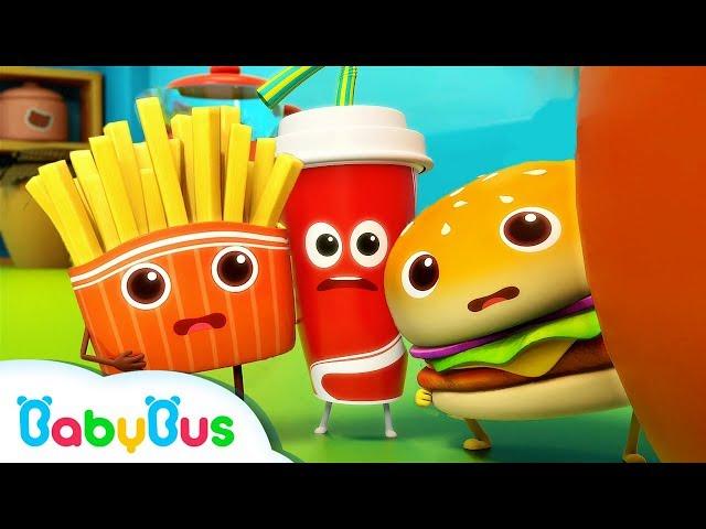Hamburger and His Friends   Food Song   Nursery Rhymes   Kids Songs   Kids Cartoon   BabyBus