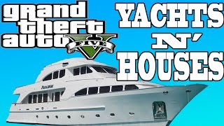 GTA 5 New Houses & Personal Yachts! - ($10 MILLION BOAT!)