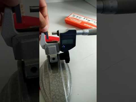 calibration of micrometer using slip gauge