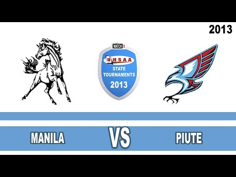 1A Girls Basketball: Manila vs Piute High School UHSAA 2013 State Tournament Quarterfinals