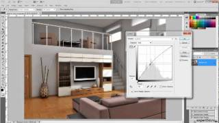 Урок по Adobe Photoshop № 2 - interior render enchancement