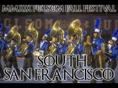 South San Francisco High School Marching Band in 2019 Folsom Fall Festival