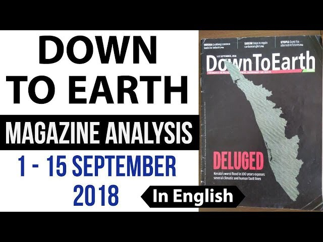 Down to Earth magazine 2018 analysis September 1-15 for Geography optional UPSC 2019 mains