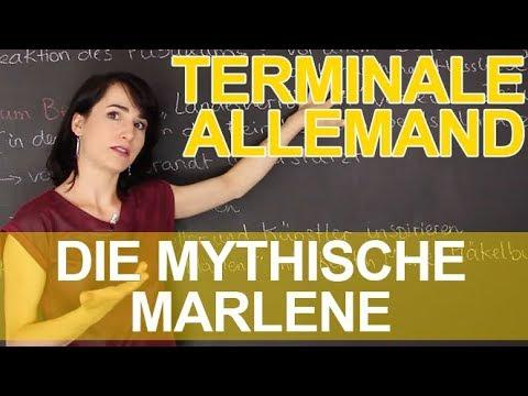Download Mythen und Helden : Die mythische Marlene - Allemand - Terminale - Les Bons Profs
