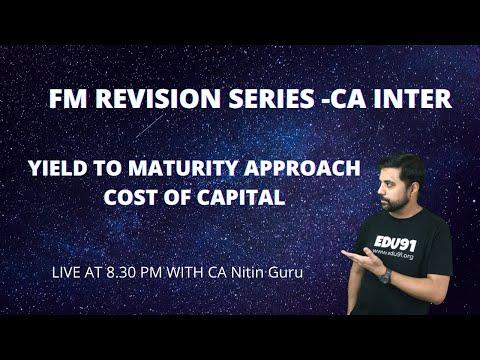 Yield to maturity (YTM) l FM Revision l CA INTER  l LIVE WITH CA Nitin Guru