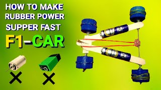 How To Make Simple Car |  Rubber Band Powered Car | Make Simple  Car | DIY Toy  | Car Part  1