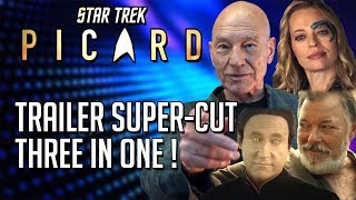 Star Trek Picard Trailer Supercut - 3 in 1 Trailers/Teasers!