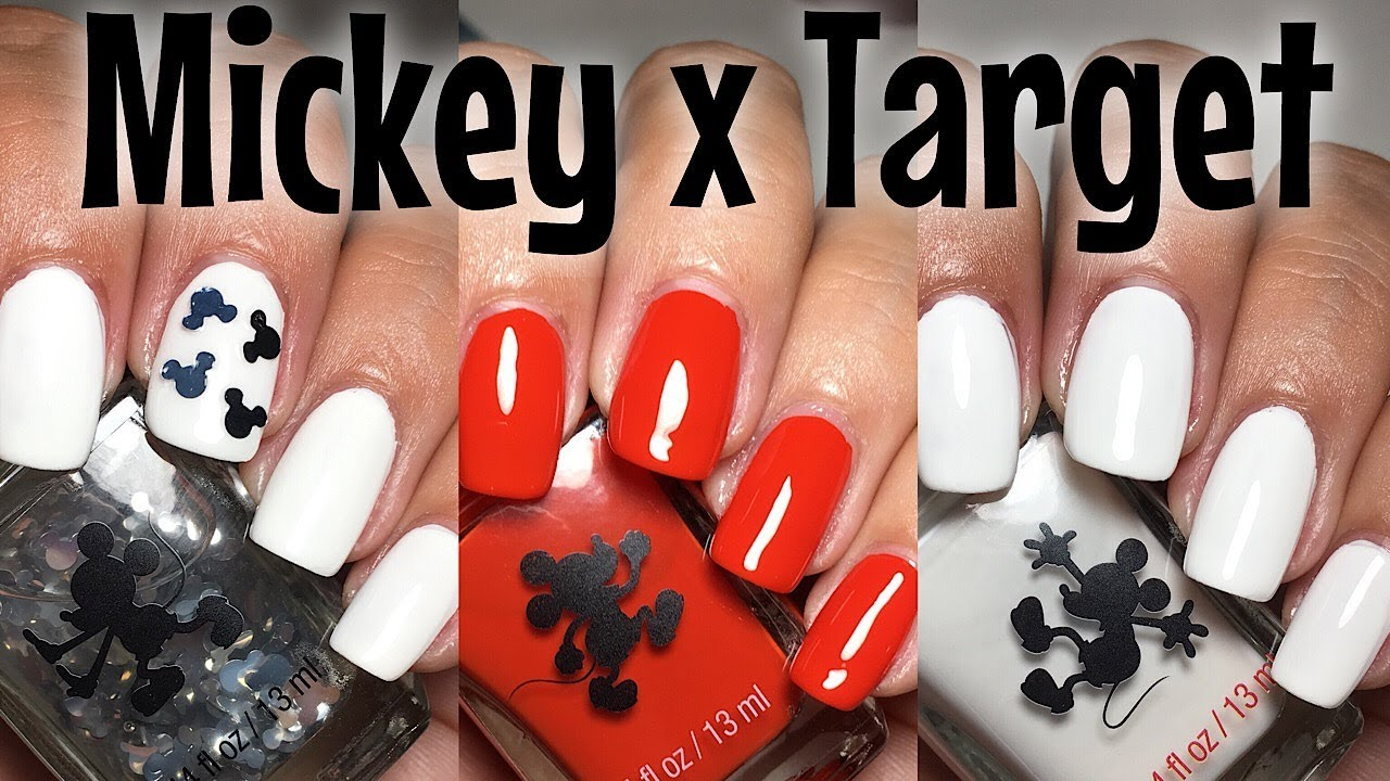 Mickey X Target Nail Polish Trio Review Giveaway The