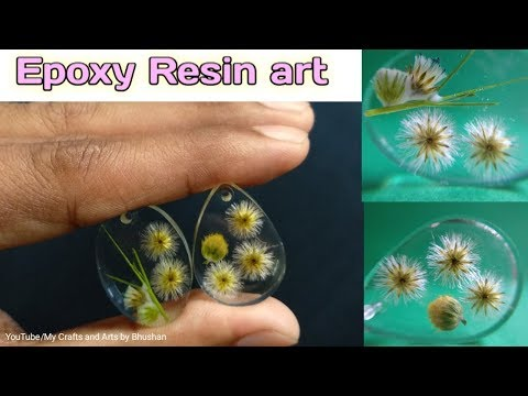 Amazing DIY idea from epoxy resin art || fresh real Flowers in the epoxy resin