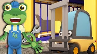Gecko's Construction Vehicles For Kids - The Forklift   Gecko's Garage   Learning For Kids