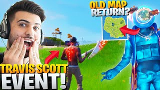 EVERYTHING In The Travis Scott EVENT! *OLD MAP* Returning? - Fortnite Battle Royale Skin Gameplay