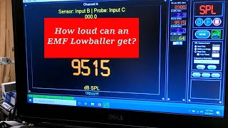 How loud can an EMF Lowballer 15 get? How much power will it take?