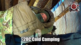 Cold Weather Survival Camṗing In -20C