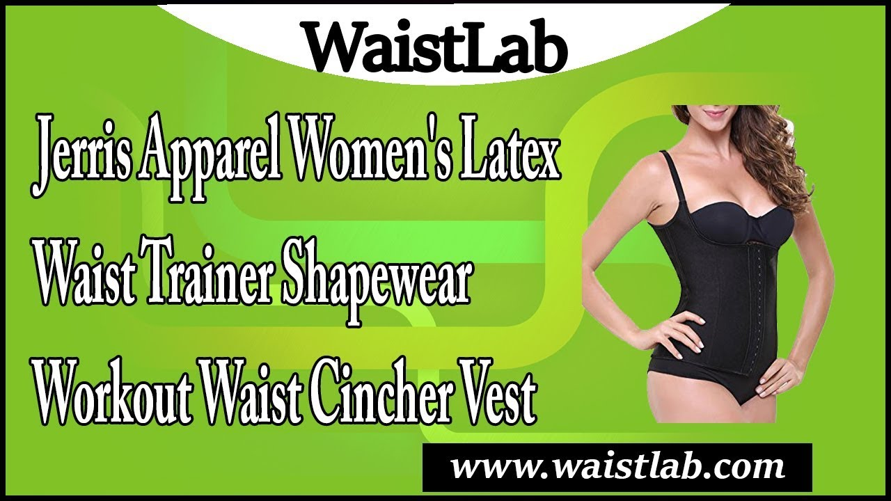 77da7fe440 JerrisApparel Women s Latex Waist Trainer Shapewear Workout Waist Cincher  Vest Review