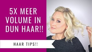 5 DUN HAAR TIPS VOOR MEER VOLUME!! | Dazzling Beauty