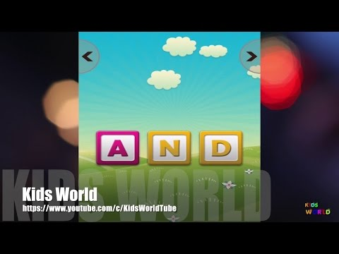 Sight Words, Learn to Spell English for kids, Best iPhone App Demo