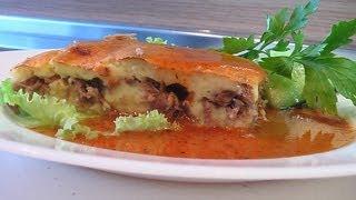 Запеканка картофельная с мясом под красным соусом видео рецепт. Книга о вкусной и здоровой пище