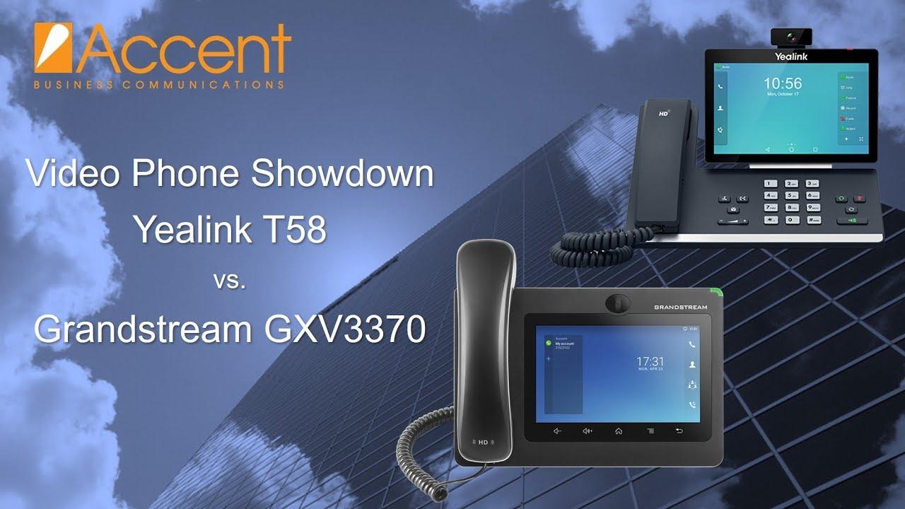 Video Phone Showdown: Yealink T58 vs Grandstream GXV3370