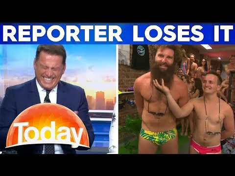 Karl loses it during hilarious budgie smuggler interview   TODAY Show Australia