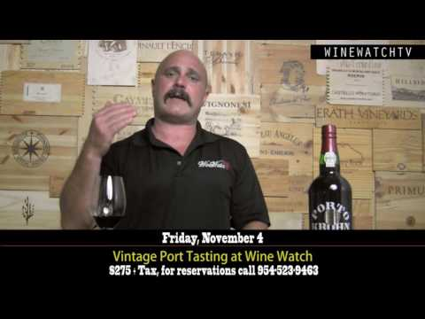 Vintage Port Tasting at Wine Watch - click image for video