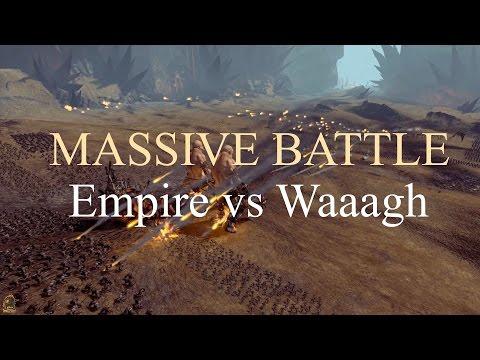 Total War Warhammer - Massive Battle - Waaagh (5,500) vs Empire (2,200)