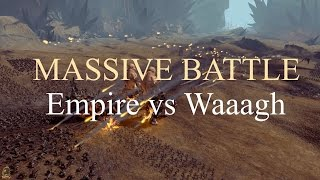 Total War Warhammer - Massive Battle - Waaagh (5,500) vs Empire (2,200)