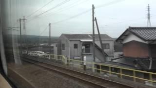 JR日豊本線 車窓 中津駅~行橋駅(883系0番台特急ソニック)130km/h運転!