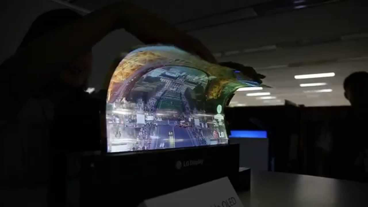 lg flexible oled panel tv future technology youtube