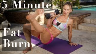 5 Minute Fat Burning Workout #126