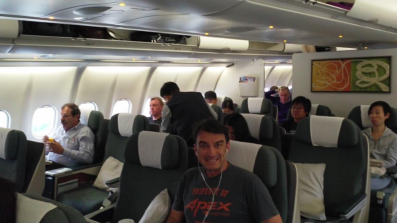 國泰港龍商務艙飛行記錄KA731香港至吉隆坡 - 空中巴士A330-300 - YouTube