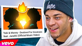 Reacting to Tobi & Manny - Destined For Greatness (feat. Janellé) [Official Music Video]