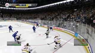 NHL 14 Gameplay!!!!! Toronto vs Boston!!!!!