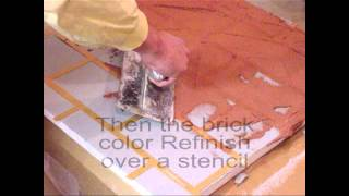 Master Wall® Brick Stencil Finish
