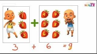 Belajar Berhitung Penjumlahan Strawberry Dan Semangka Anak Tk Sd Bersama Upin Ip