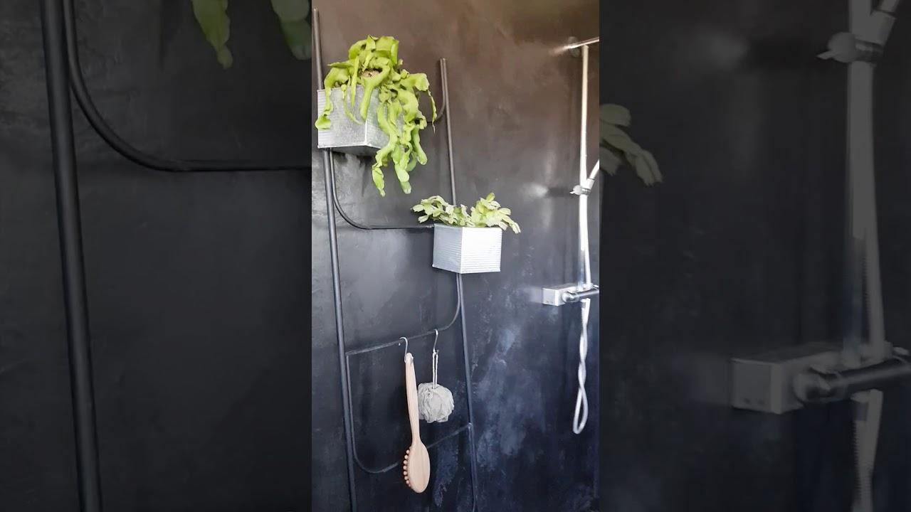 Beton Cire Noir Mortex Salle De Bains Jungle Youtube