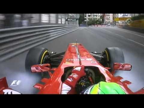 Crash of Felipe Massa in FP3 Monaco